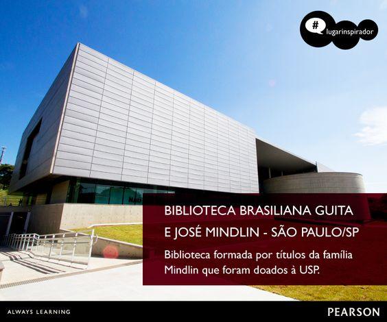 Conhece um #lugarinspirador para aprender? Nossa dica é Biblioteca Brasiliana, com livros doados pela família Mindlin