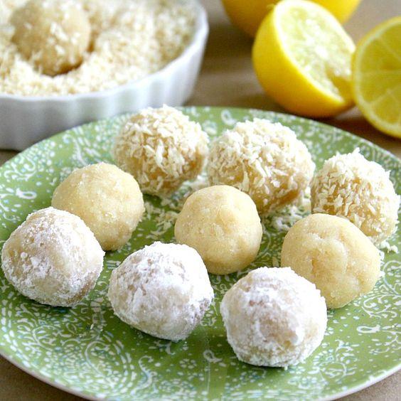 Lemon Meltaway Balls using almond meal/flour, coconut flour, lemon ...
