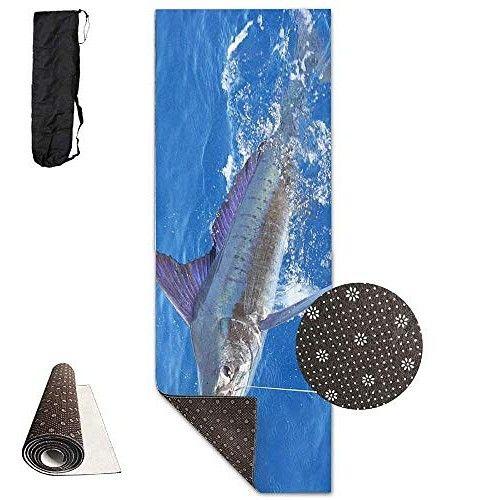 Stripe Marlin Fish Yoga Mat Advanced Yoga Mat Non Slip Lining Easy To Advanced Yoga Yoga Mat Yoga