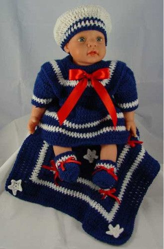 Knitting Pattern For Sailor Doll : Patterns, Crochet and Doll outfits on Pinterest