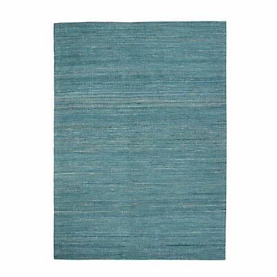 Tapis bleu en viscose 160x230cm