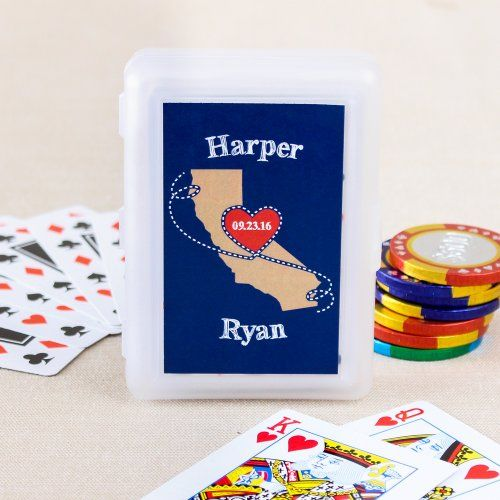 Wedding Themed Playing Cards with Personalized Label by Beau-coup
