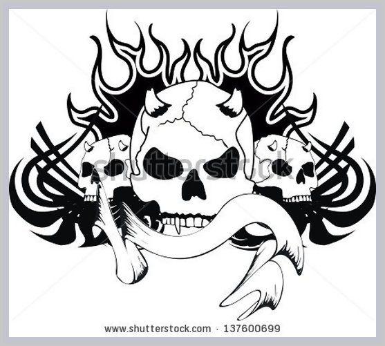 easy skull tattoo designs for beginners wwwpixsharkcom