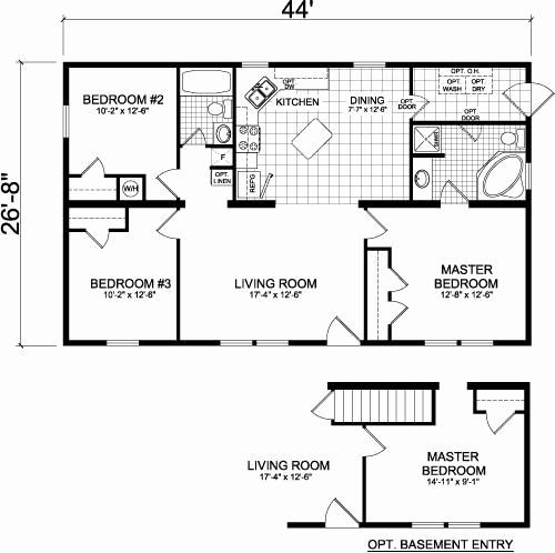 28 X 40 House Plans Awesome 24 X 40 Floor Plan Rental In 2020 House Plans Cottage Floor Plans Floor Plans
