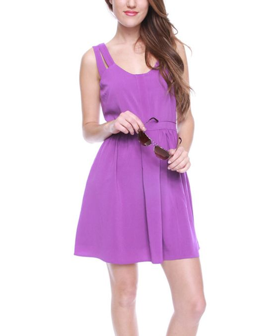 Look at this Purple Sleeveless Dress on #zulily today!