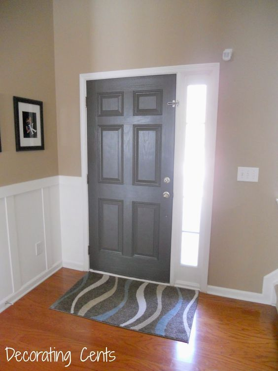 Behr Intellectual Gray Front Door Paint Colors
