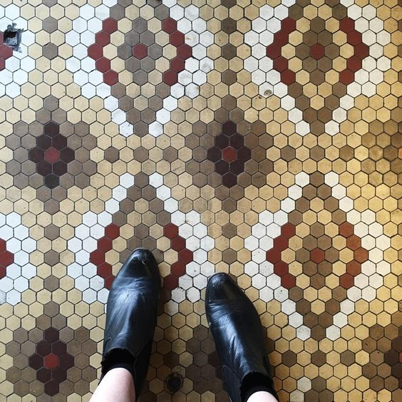 Such a sucker for vintage and European flooring. Nice find at @palacewestgarth