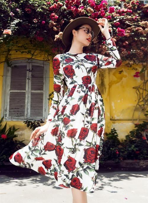 Modest Rose Dress