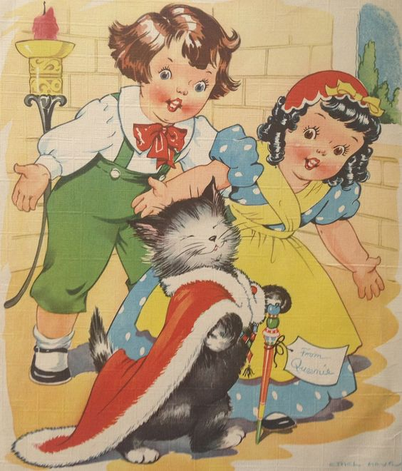 """Vintage """"Pussycat, Pussycat, Where Have You Been?"""" by Ethel Hays, via Etsy.:"""