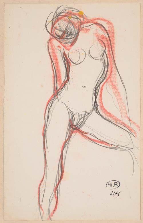 Auguste Rodin, Femme nue à la jambe gauche écartée