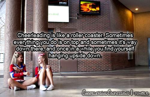 .: Cheer Quotes, Sports Cheer, Sport You Re, Sentence Humorous, Cheerleading Quotes, Cheerquotes, Roller Coasters, Therapy Sport, Top