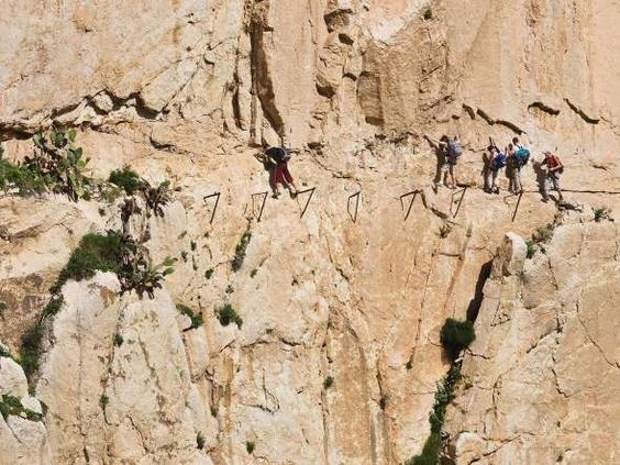 El Camino Del Rey, Andalucia, SpainThis short hike is jaw-droppingly dangerous; it's not named the w... - Ken Welsh / Alamy