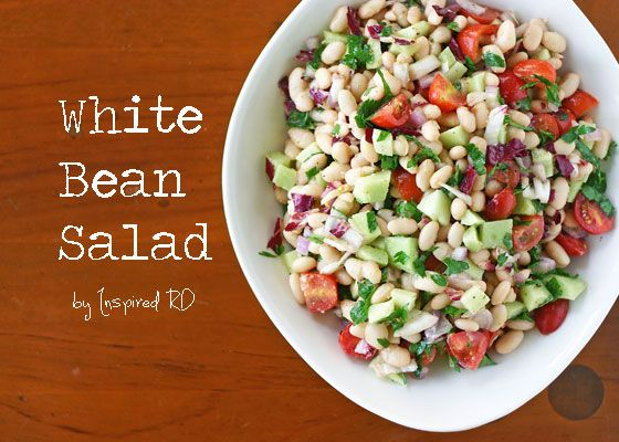 White Bean Salad - Perfect no-cook meal for summer from Inspired RD