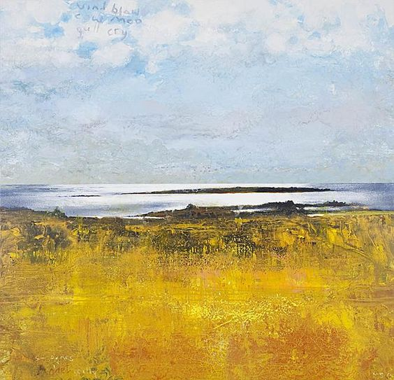 An outstanding piece by British painter Kurt Jackson. Looking at paintings like this fills me with great joy, their exquistie use of simple warming colours and of celebrating the landscape is really a beautiful thing #art #kurtjackson