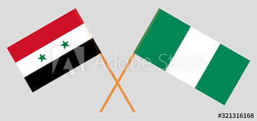 Crossed Flags Of Nigeria And Syria Ad Flags Crossed Syria Nigeria Ad In 2020 Nigeria Flag Cross Flag Social Media Design Graphics