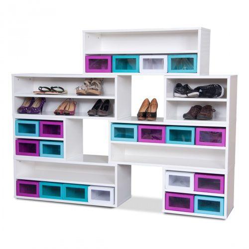 Schuhregal Box Base Weiß Set VI | Fashion For Home