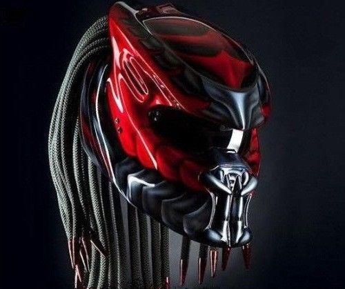 Predator Motorcycle Helmet// Alien vs Predator Bike Helm SNI Not DOT Approved