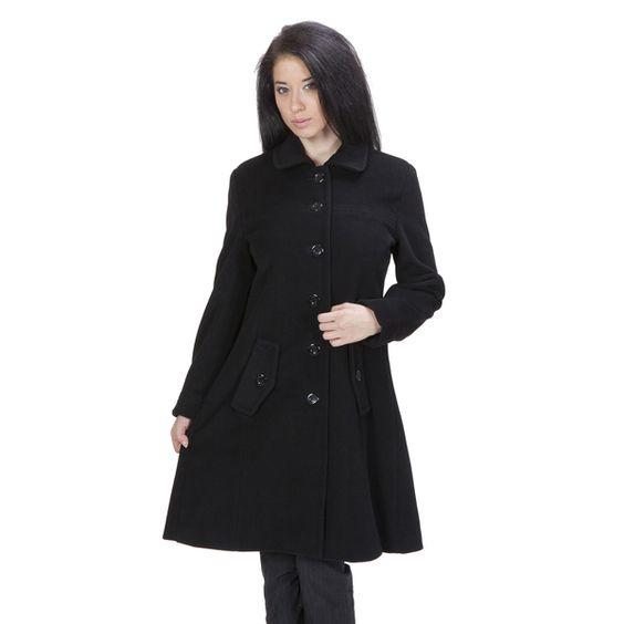 Ramonti Women&39s Black Luxe Wool Swing Car Coat | Coats Cars and Wool