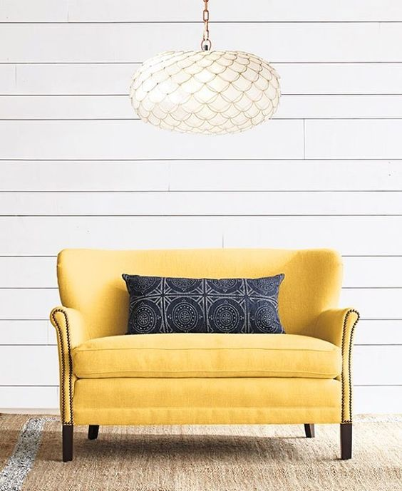 Hoping your Sunday is as sunny as our Belgian Club Loveseat. #serenaandlily #inspirationdelivered (Link in bio to shop)