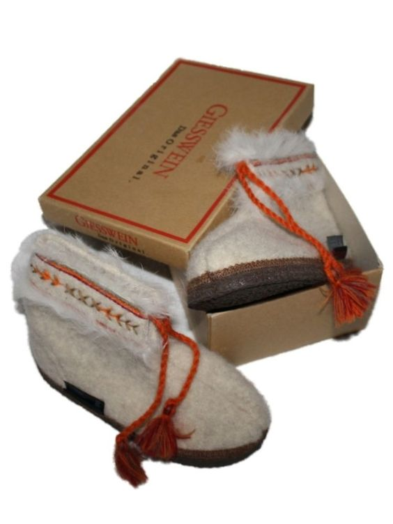 NEW Girl Toddler Kid Giesswein Eberstadt Beige Wool Slipper Boot Shoe Size 13 30 #Giesswein #Slippers