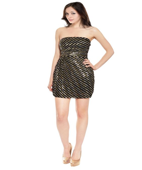 THEORY Dazzling Sequin Black Silk Strapless Party Evening Cocktail Dress'. #theory #cloth #evening