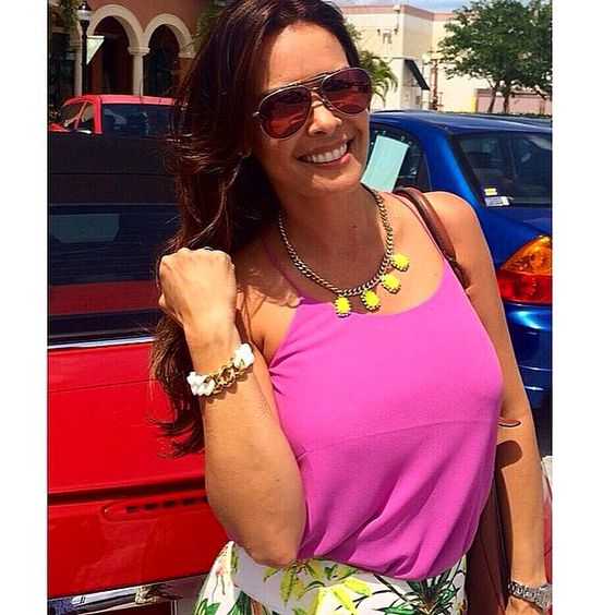 Kate Sierra of The Real Housewives of Miami with our white RUBBZZ bracelet. Stainless steel with 24k gold plating. #therealhouswivesofmiami #katesierra #rubbzz #newyorkdesign #newyorkers