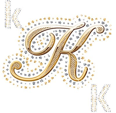 Alfabeto de oro y brillantes. | Oh my Alfabetos!
