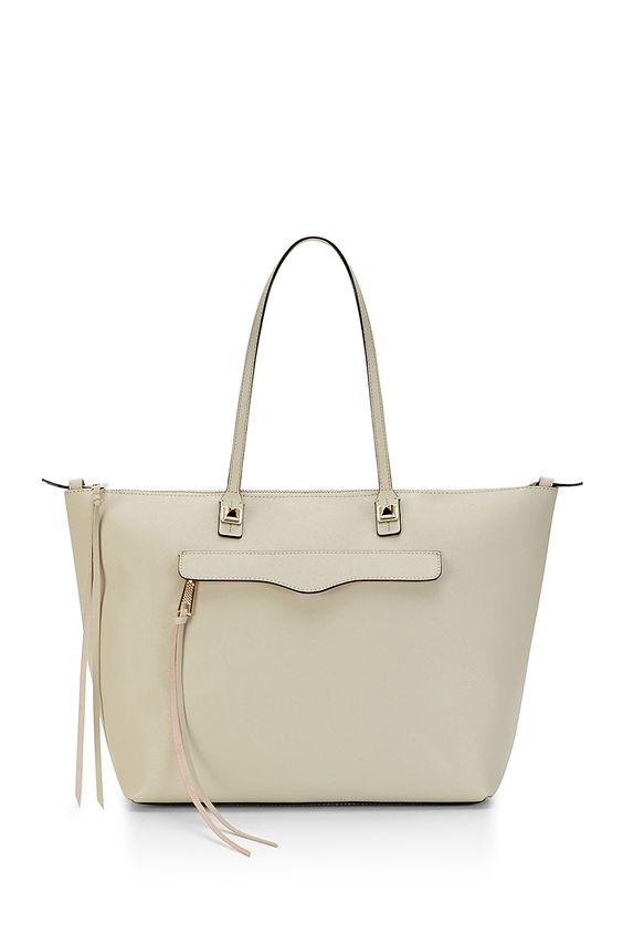 East/West M.A.B. Tote - An updated version of our classic M.A.B. Tote, this is our new go-to carryall. Crafted from textured saffiano leather and finished with our signature hardware, this roomy sidekick makes a seamless (and chic) transition from work to weekend.