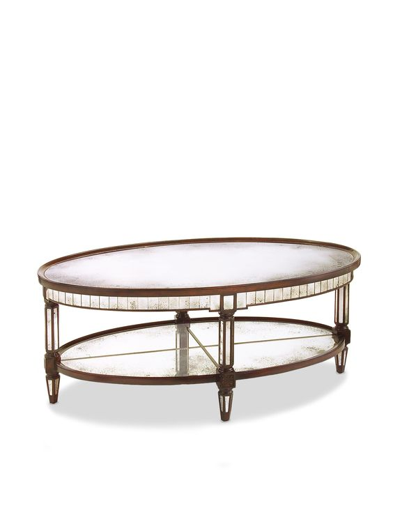 Keswick Oval Cocktail Table by John Richard at Gilt