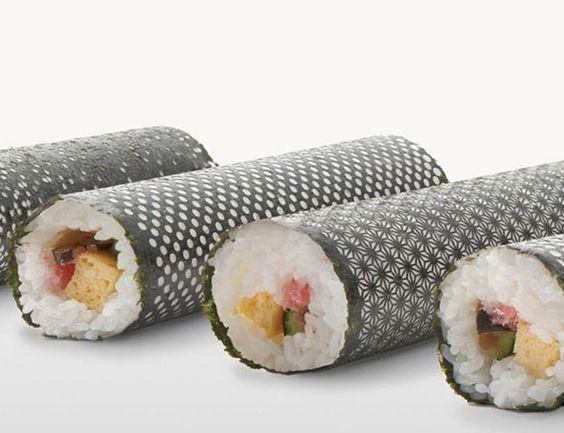 Algas de sushi ganham desenhos típicos japoneses