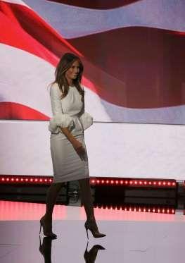 Melania Trump Wearing the White Roksanda Dress at the RNC - Getty