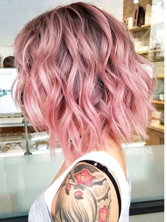 59 Game Changing Medium Length Layered Haircuts For All Textures Cotton Candy Pink Hair Rose Pink Hair Hair Color Pink