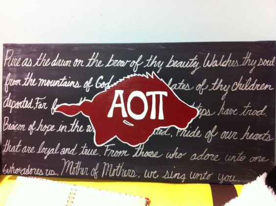 Razorback /AOII canvas for Arkansas Sigma Phi Epsilon