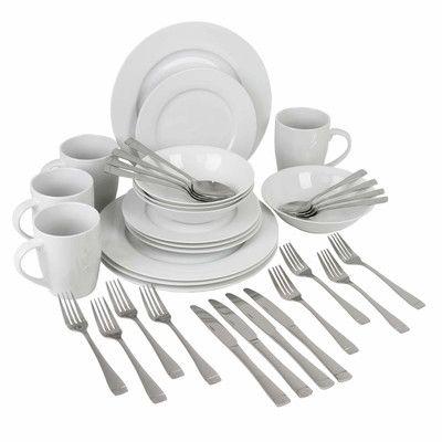 Oneida Exclusive 36 Piece Dinnerware & Flatware Set