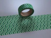 Washitape Maskingtape grün weiss CHEVRON ZickZack