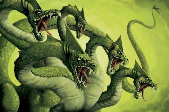 Hydra, Chimera, and Tiamet on Pinterest | Echidna, Greek Mythology ...