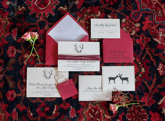 Winter Warmth Inspired Invitation Set