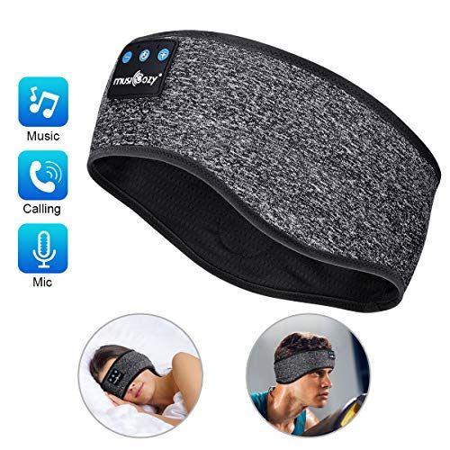 Sleep Headphones Bluetooth Sports Headband Wireless Music Headband Headphones Ipx6 Waterproof Headphones With Mic For Yogamozart In 2020 Sleep Headphones Waterproof Headphones Wireless Music