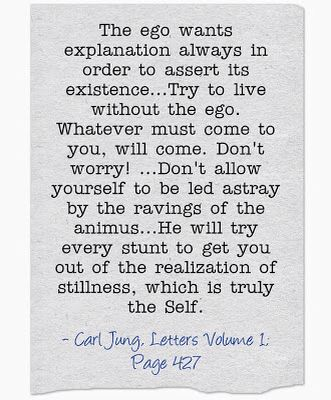 Carl Jung on the ego.: