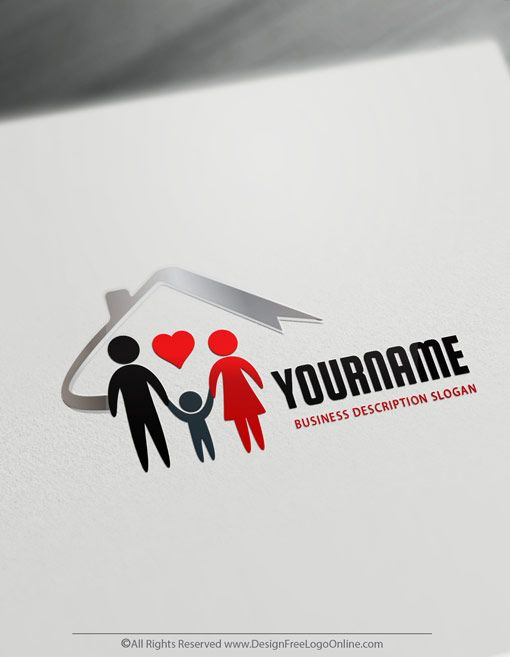 Create Your Own Family Logo Business Insurance Logo Templates