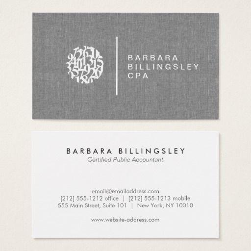Modern Numbers Logo Linen Accountant Business Card Fragranceworldlogo Zazzle Business Cards Business Card Design Printing Business Cards