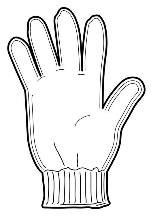 Guantes Colorear Colouring Pages Winter Mittens Winter