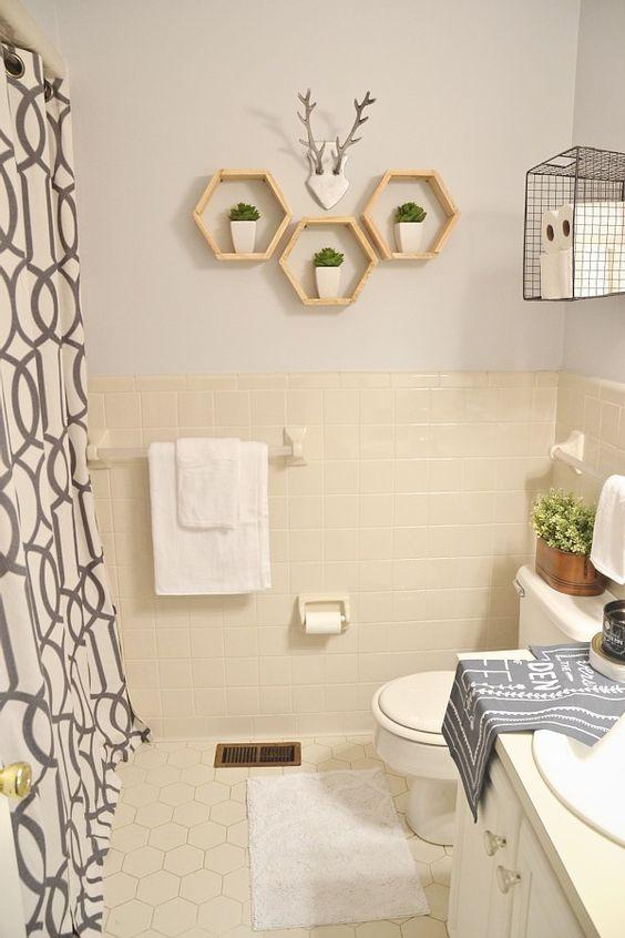 Lmb Rental Bathroom Makeover Pt 4 Final Reveal Rental Bathroom Makeover Apartment Decorating Rental Bathroom Decor Apartment