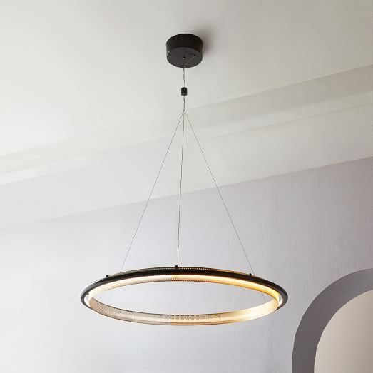 Perforated Single Led Chandelier 35 What S New At West