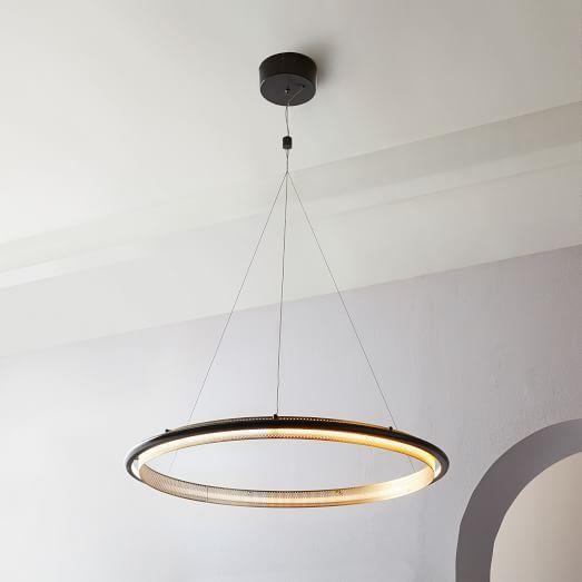 Perforated Single Led Chandelier In 2020 Led Chandelier Led Lights Glass Chandelier