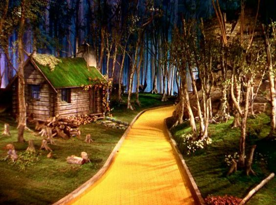 The Tin Man's cabin set, where Dorothy & the Scarecrow meet the Tin Man