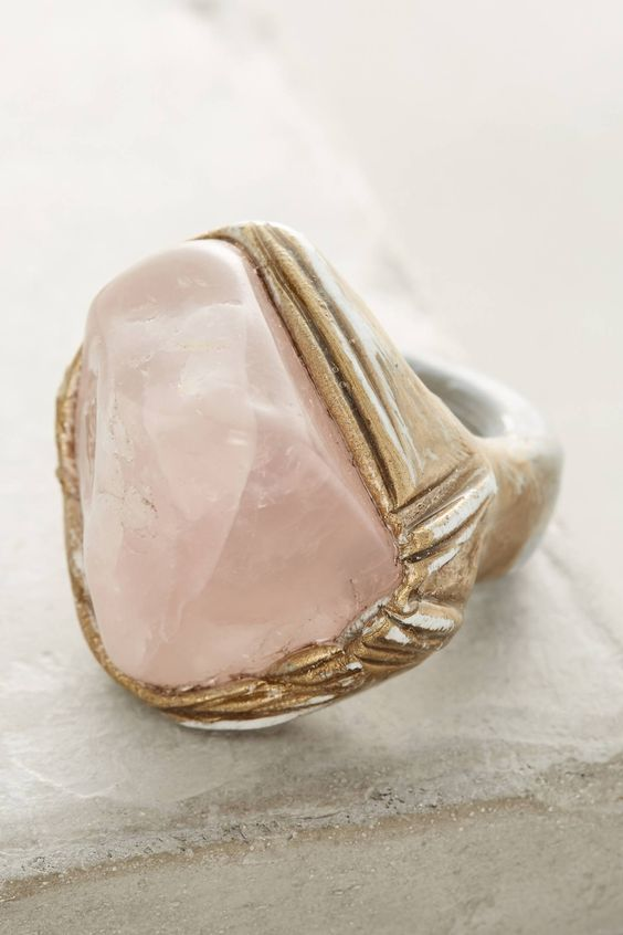 rose quartz ring-my favorites