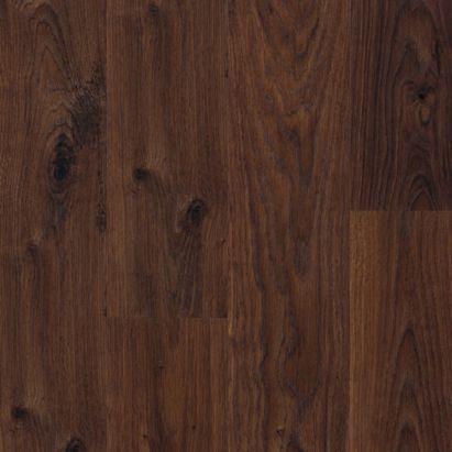 Quick step andante dark brown oak effect laminate flooring for Dark brown laminate wood flooring