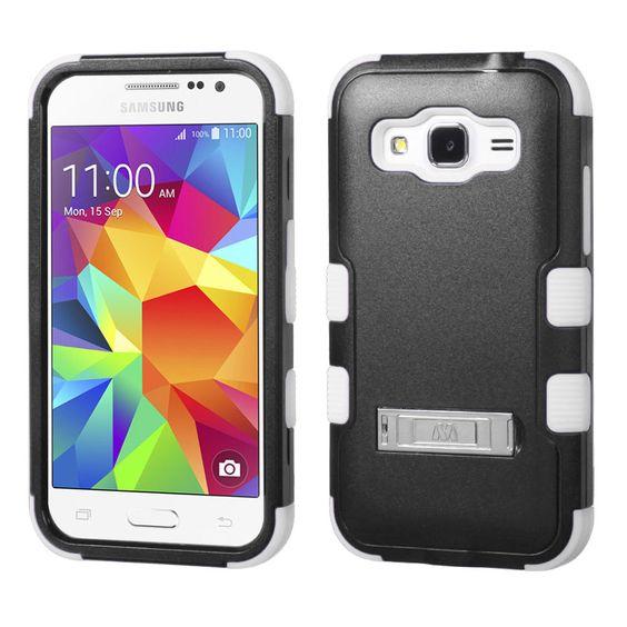 MYBAT TUFF M-Stand Galaxy Core Prime Case - Black/White