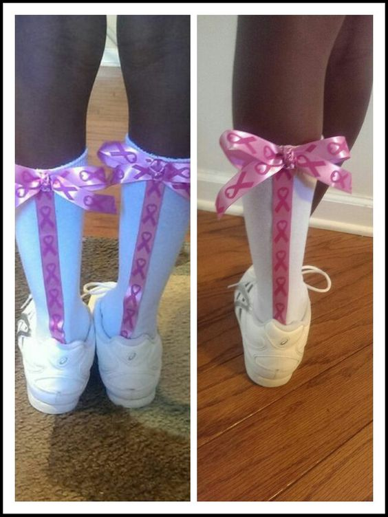 Breast Cancer Awareness Cheer Socks